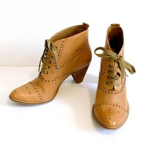 Anthro Schuler & Sons wingtip lace up ankle boots